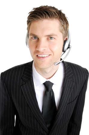 This is an image of a customer service operator smiling. Stock Photo