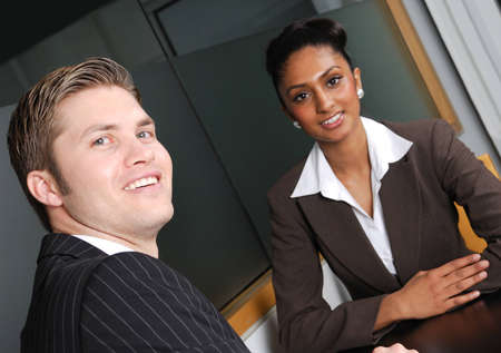 This is an image of a multi-ethnic business team. Stock Photo - 9436560