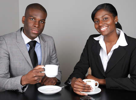 african business: This is an image of an african american business team. Stock Photo