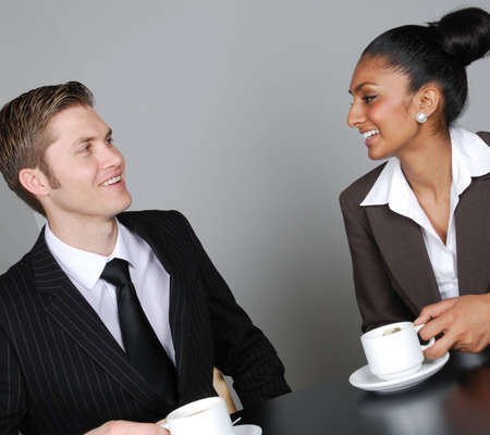 This is an image of a business team having a discussion. Stock Photo - 9436461