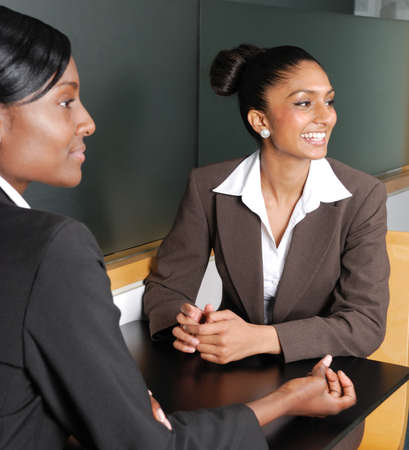 This is an image of multi-ethnic business team looking away. Stock Photo