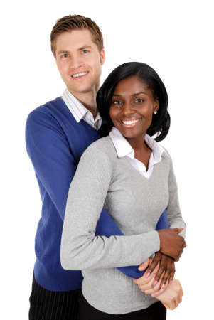 This is an image of business couple clutching each other. photo