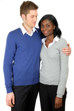 This is an image of business couple clutching each other. Stock Photo - 9436692
