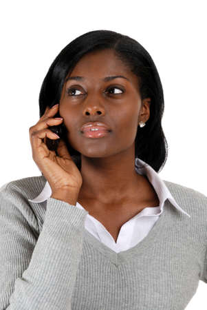 This is an image of a business woman on the on her mobile phone photo