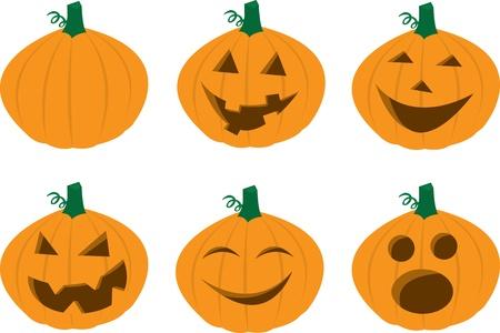 Various Pumpkin Faces