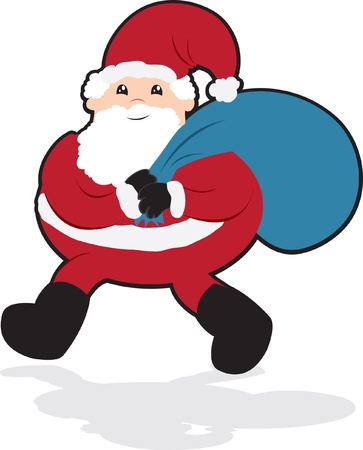 cary: Santa Carrying a Large Bag of Gifts