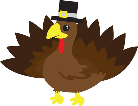 Thanksgiving turkey with pilgrim hat. Stock Vector - 11307867