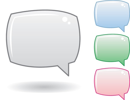 Blank speech bubbles for text Stock Vector - 11307915