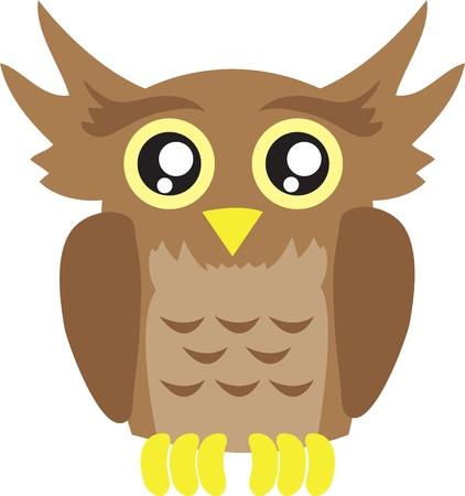 isolated owl: Alejado del b�ho p�jaro de dibujos animados