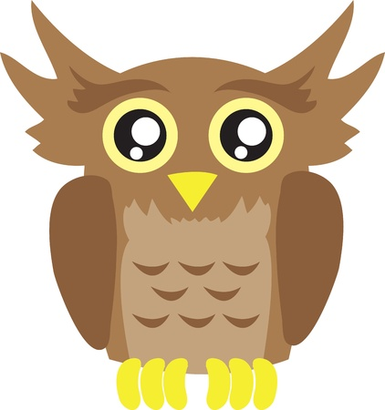 Isolated owl cartoon bird Stock Vector - 11561685