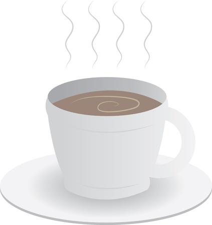 Coffee or chocolate milk mug 일러스트