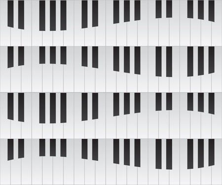 Piano keys seamless repeating background Vector