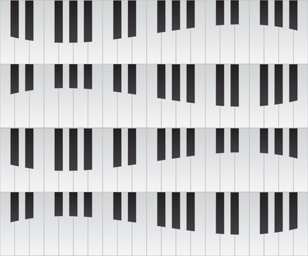 Pianotoetsen naadloze herhaling achtergrond Stock Illustratie