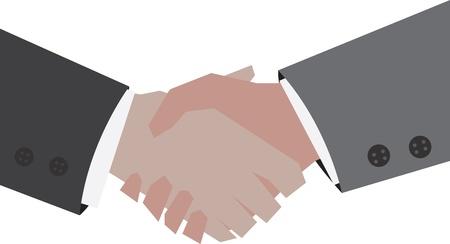 Two businessmen shaking hands Stock Vector - 11675371