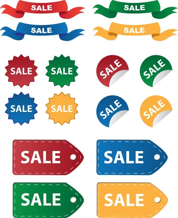 Vaus sale tags and stickers Stock Vector - 11675207
