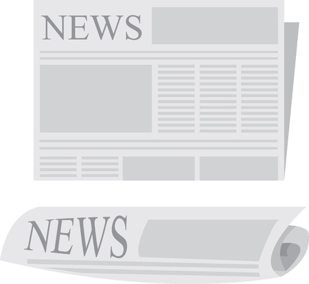 Newspaper folded and rolled up Stock Vector - 11785779