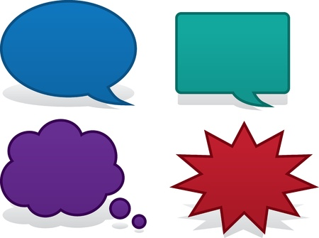 think bubble: Blank speech bubbles for text