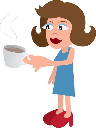 Vrouw drinken uit een beker