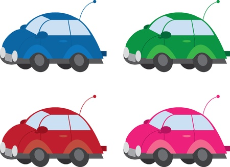 Various colored and isolated cars  Stock Vector - 11980060