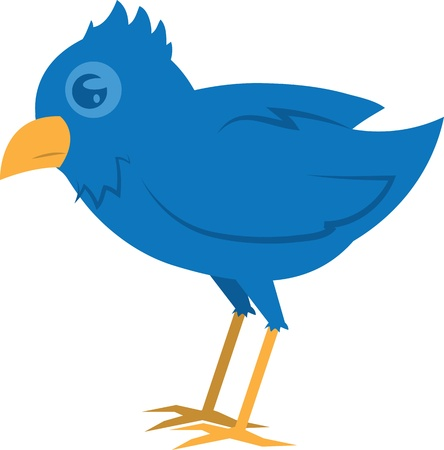 Isolated blue bird standing  Vector