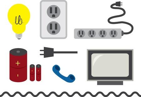 Diverse elektronische voorwerpen en accessoires