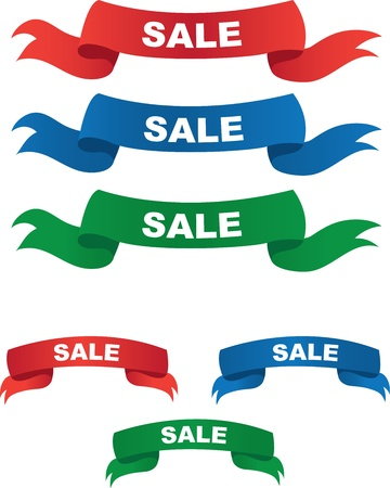 grand sale: Red, Blue and Green Sale Banners