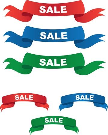 Rot, Blau und Grün Sale Banner Standard-Bild - 12472381