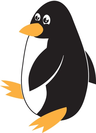 Isolated penguin walking or waddling Stock Vector - 12472393