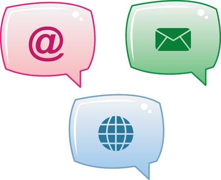 Social Media Icon Speech Bubbles  Stock Vector - 12472403