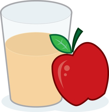 Glass of apple juice with apple Stock Vector - 12854368