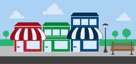 store window: Store voor strookwandelgalerij winkels Stock Illustratie