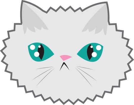 Large cartoon cat face Stock Vector - 13786937