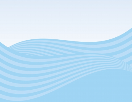 Abstract waves background with gradient sky Banco de Imagens - 14316050