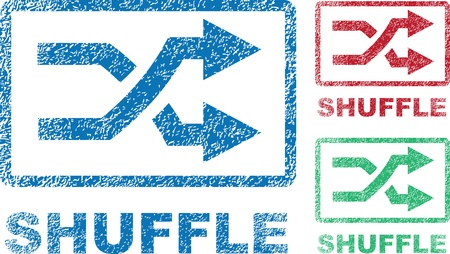 Shuffle stamp icons in three colors  Çizim