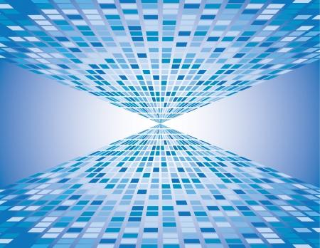 vanishing: Abstract blue boxes background vanishing