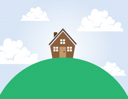 hill top: House on top of a large hill