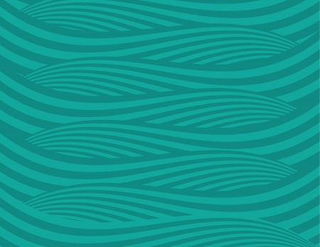 Abstract green waves background   Illustration