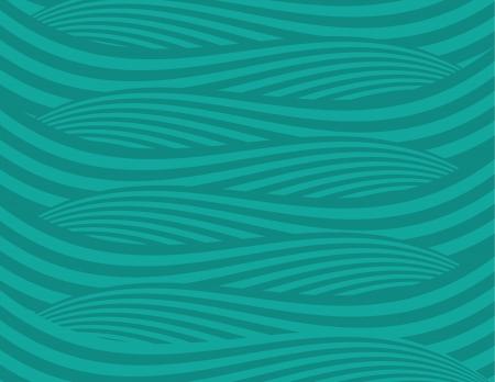 krökt: Abstrakt gröna vågor bakgrund Illustration