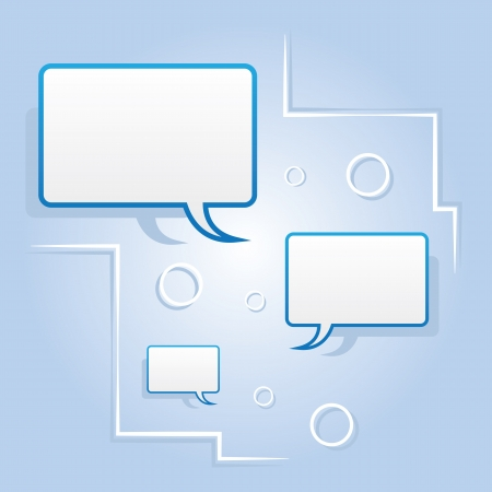 Blank speech bubbles floating abstract design Stock Vector - 14874585