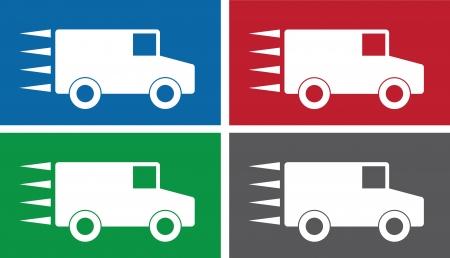 Truck symbols in vaus colors.  Stock Vector - 14953776