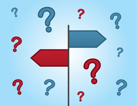 indecision: Two signs pointing to unknown destinations.