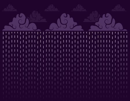 drench: Aguacero de lluvia con el cielo púrpura