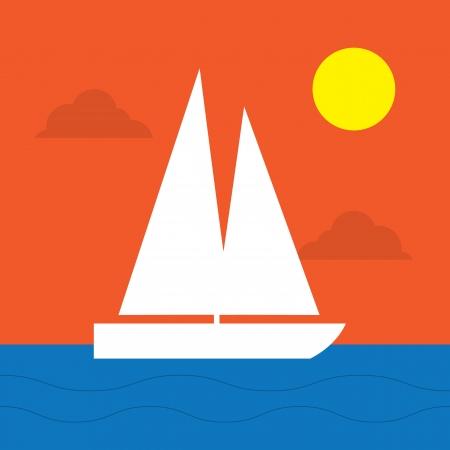barca a vela: Veliero in acqua al sole