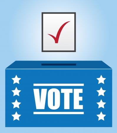 indeciso: Votantes caja con boleta marcada