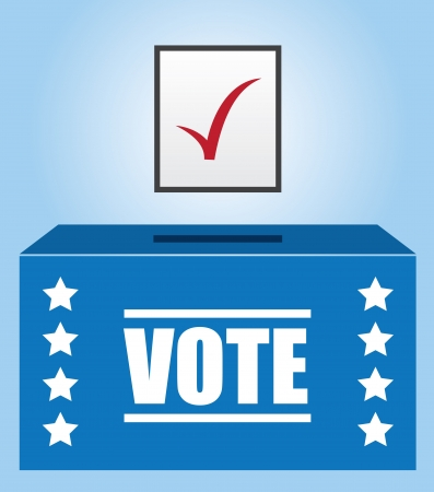Voter box with checked ballot   Stock Vector - 15634747