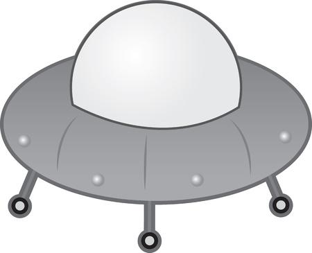 Alien UFO spaceship with wheels