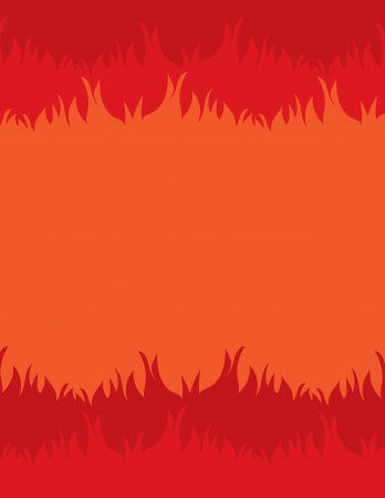 sweaty: Fiery background with space for text in the center