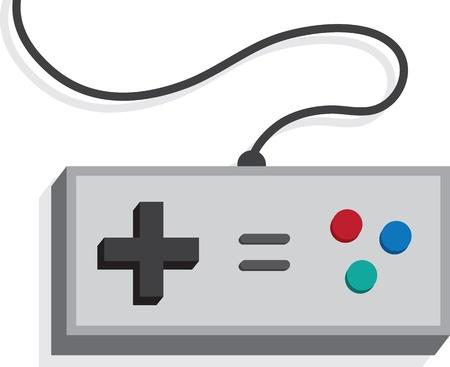 Retro game controller op wit wordt geïsoleerd
