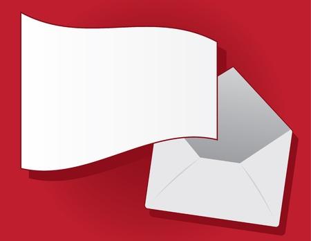 Letter flying out of floating envelope   Stock Vector - 15804375