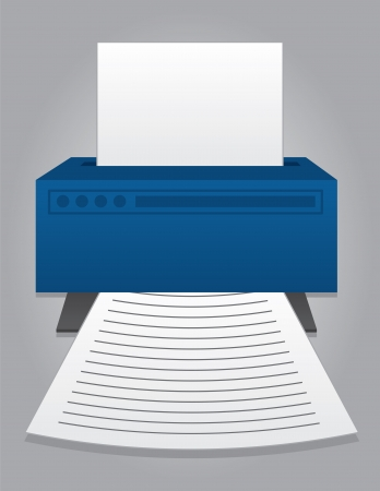 printer icon: Printer printing out piece of paper